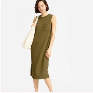 Everlane The Long Weekend Tank Dress in Green